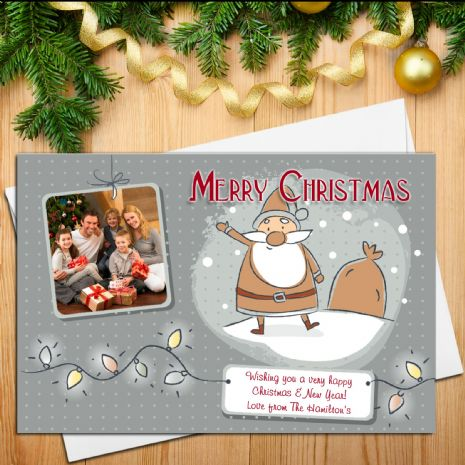 10 Personalised Family Christmas Xmas PHOTO Post Cards N25